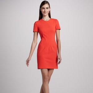 DVF Yazmine Fitted Crepe Dress Atomic Orange 12